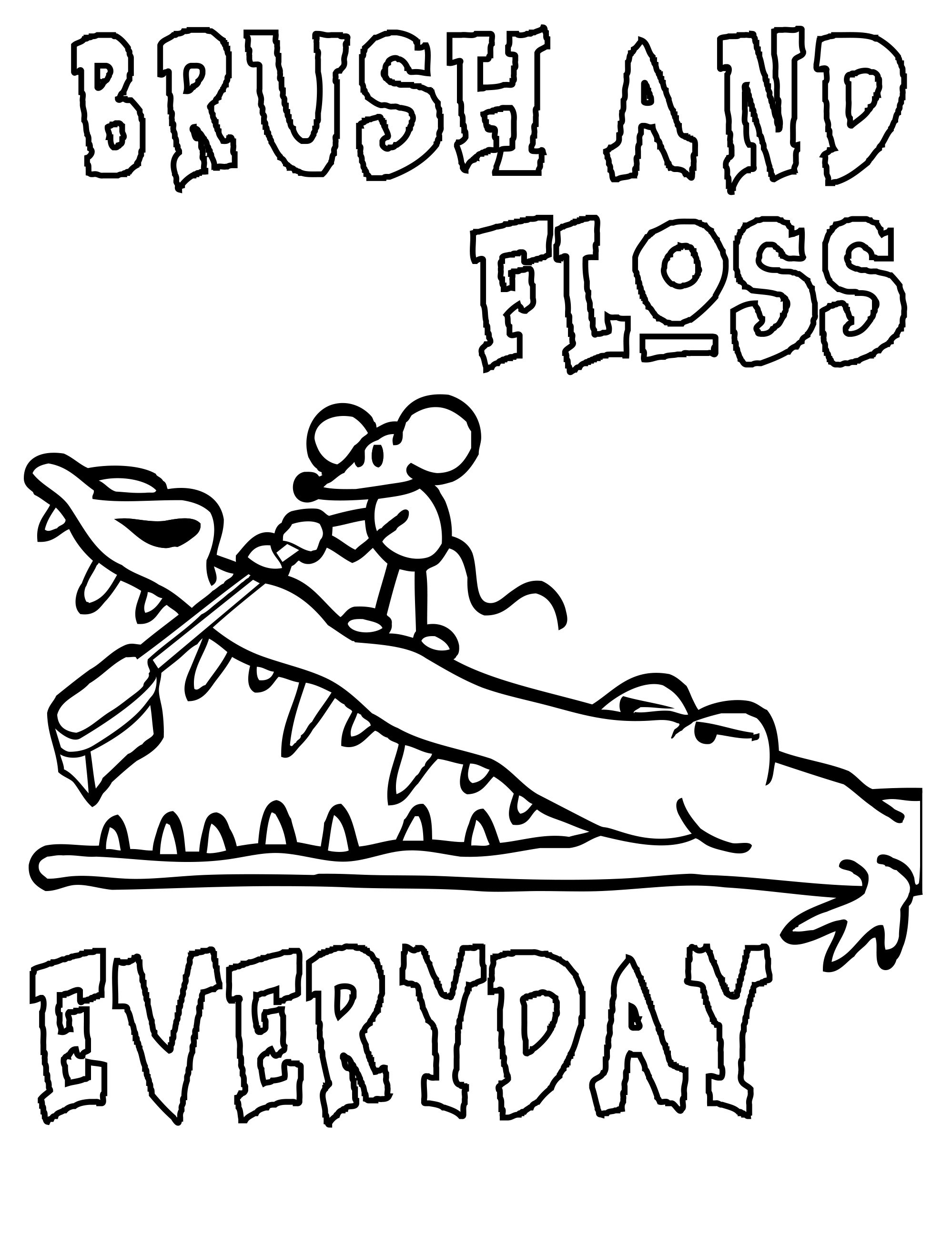 1998x2594 Dental Hygiene Coloring Pages Wallpapers Lobaedesign Com With Plan