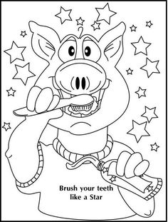 236x311 Teeth Coloring Pages Brush Your Teeth Coloring Page Dental