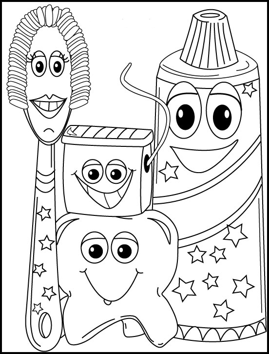 552x728 Dental Hygiene Coloring Page Great Kids Who Are Waiting