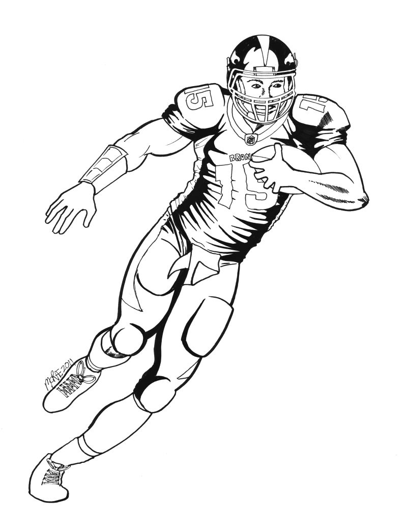 Denver Broncos Coloring Pages at GetDrawings | Free download