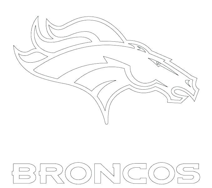 678x600 Denver Broncos Coloring Page