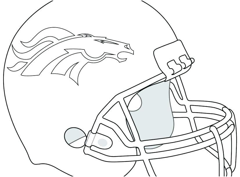 827x609 Denver Broncos Coloring Page