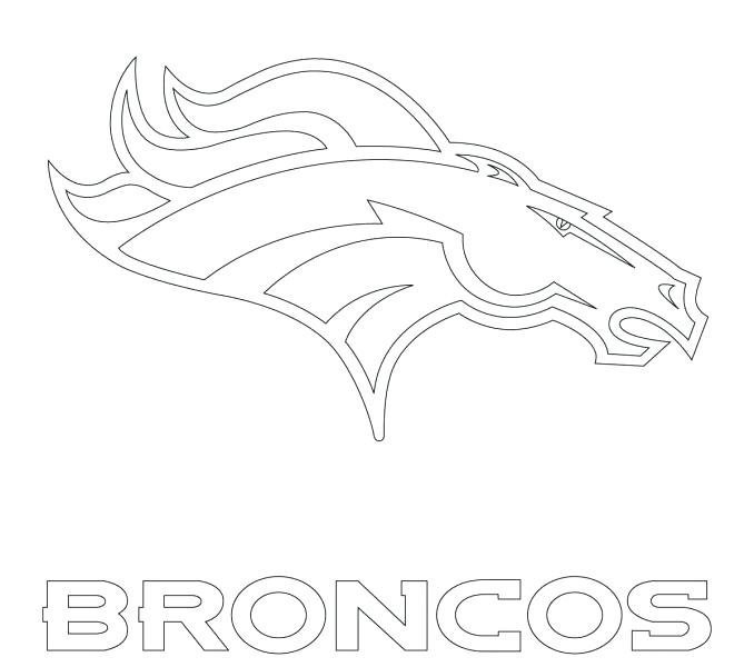 678x600 Broncos Coloring Pages Magnificent Denver Broncos Logo Coloring