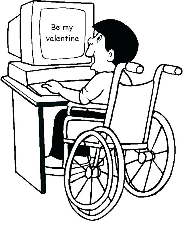 659x800 Valentines Coloring Page Or Valentine Card Boy In Wheelchair More