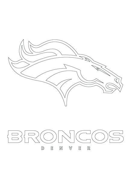435x580 Denver Broncos Coloring Pages Broncos Logo Coloring Page Denver