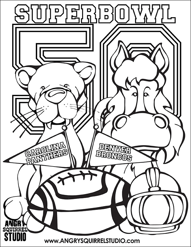612x792 Free Coloring Pages Superbowl Angry Squirrel Studio
