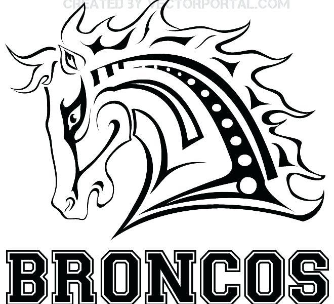 660x600 Broncos Coloring Pages Magnificent Denver Broncos Logo Coloring