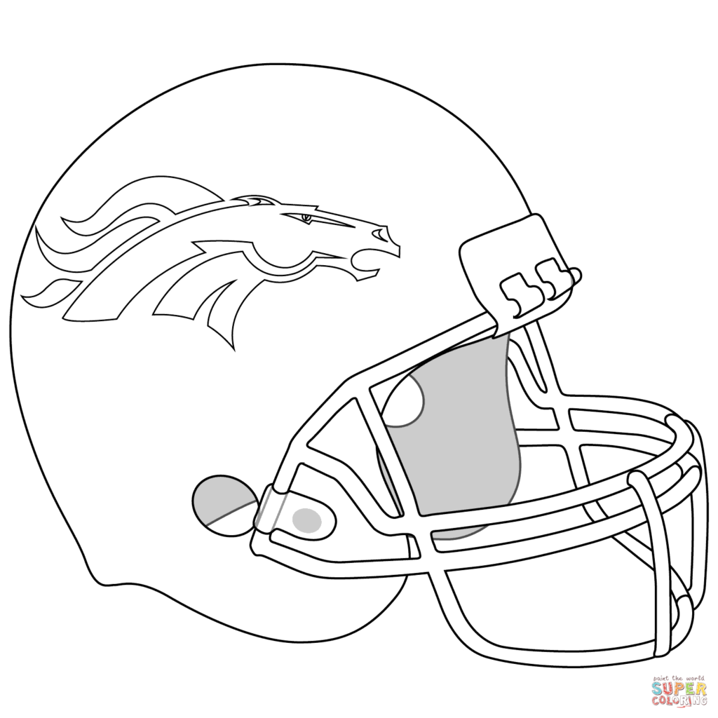 1024x1024 Broncos Logo Coloring Page Drawing Denver Free Printable Pages