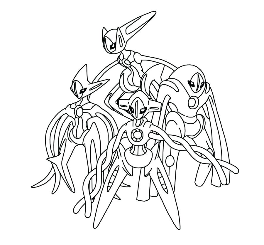 900x834 How To Color Deoxys Legendary Pokemon Drawing Coloring Pages