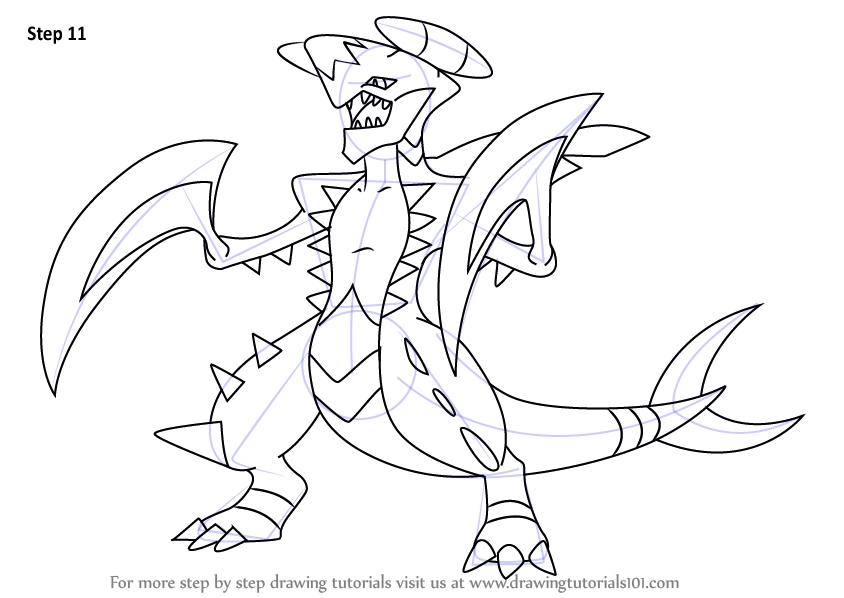 844x598 Pokemon Mega Garchomp Coloring Pages