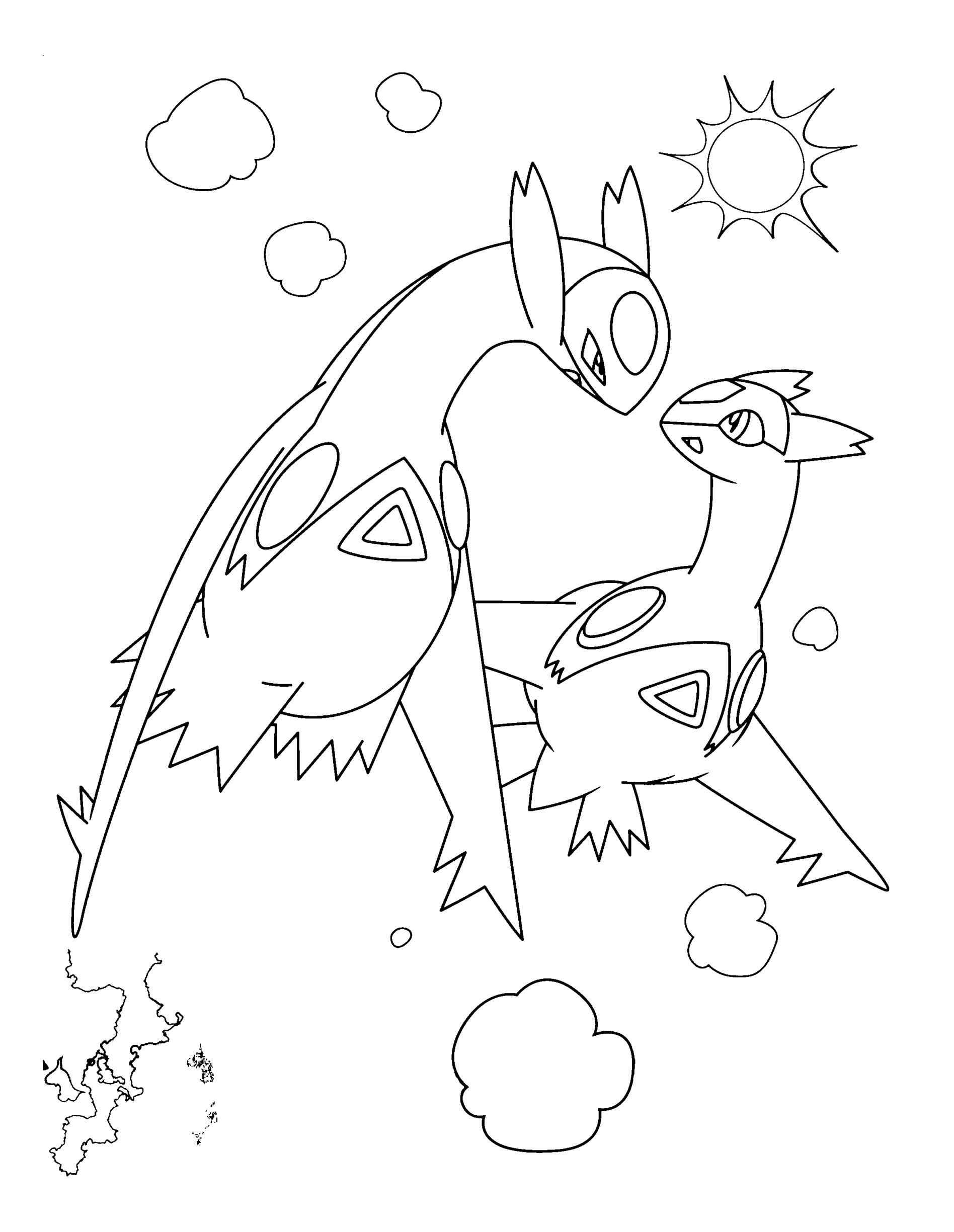 1896x2449 Sure Fire Latios Coloring Pages Electric Pokemon Colouring