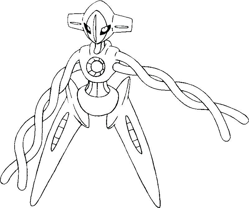 800x670 Deoxys Coloring Pages Alternate Form Coloring Pages For Adults