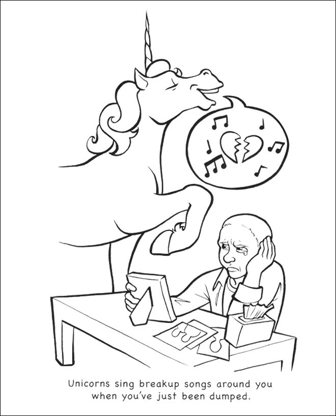 Depressing Coloring Pages