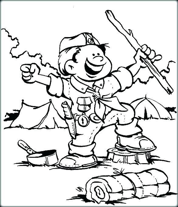 586x681 Cub Scout Coloring Pages Luxury Cub Scout Coloring Pages Cub Scout