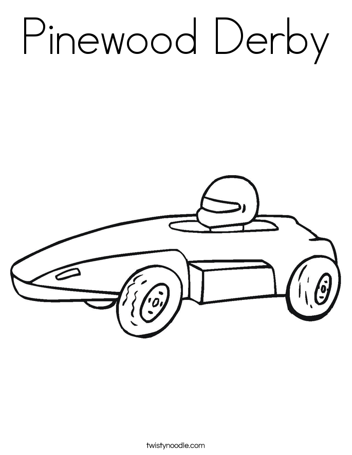 685x886 Pinewood Derby Coloring Page