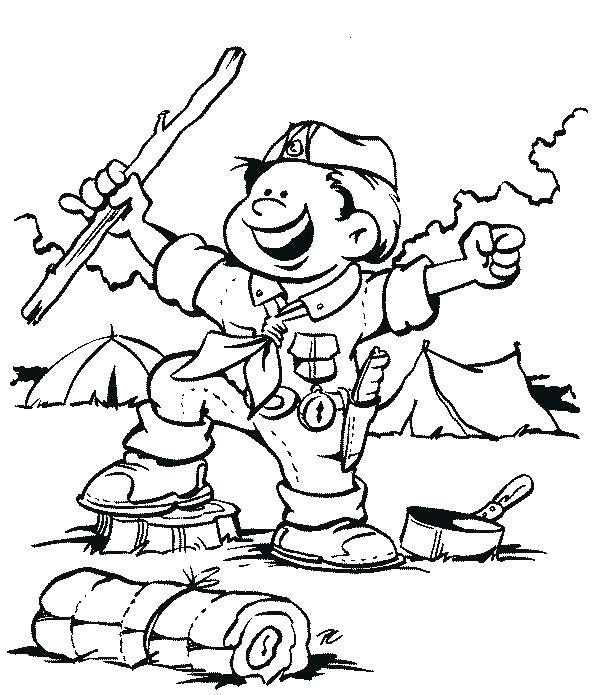 600x695 Scout Coloring Pages Girl Scout Cookie Coloring Pages Girl Scouts