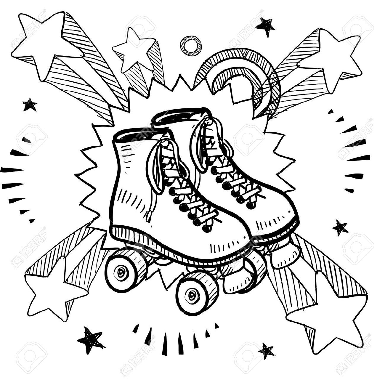 1300x1300 Skate Coloring Page