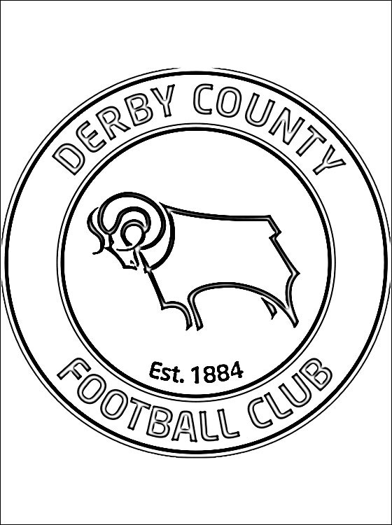 560x750 Coloring Page Derby County F C Coloring Pages