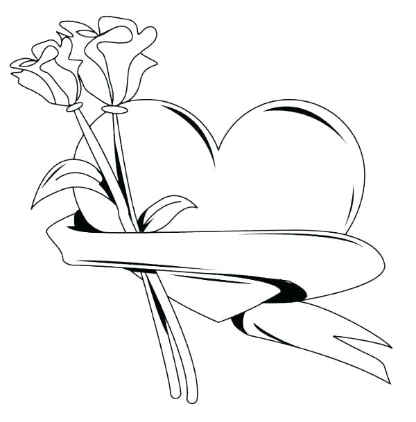 600x609 Rose Coloring Page Rose Color Sheets Roses Coloring Pages Rose