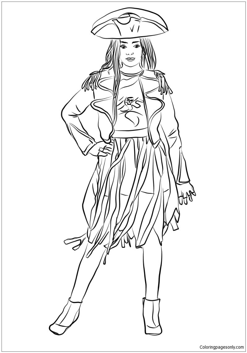 798x1139 Descendants Uma Coloring Page