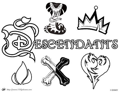 400x309 Free Disney Descendants Printables Activities Skgaleana