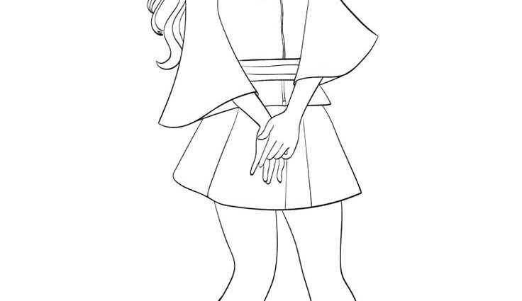 Descendants 2 Coloring Pages Mal At Getdrawings Free Download