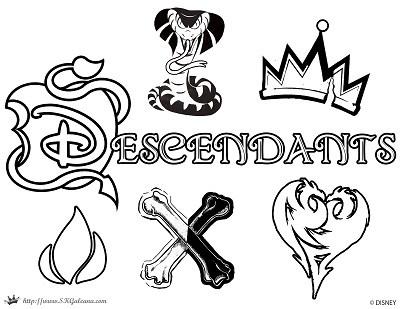 400x309 Free Disney Descendants Coloring Pages Skgaleana
