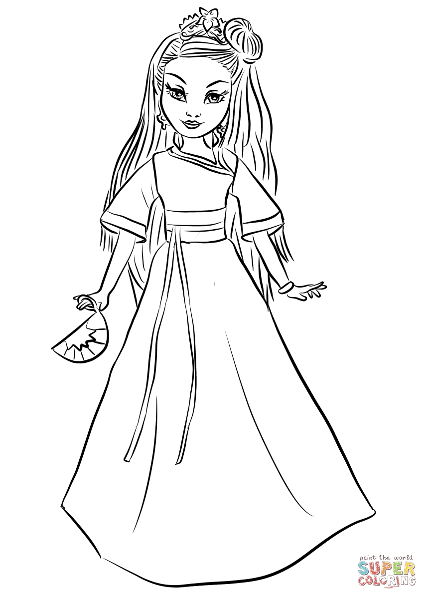 857x1200 Printable Uma Free Coloring Pages To Print Beautiful Descendants