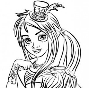 299x297 Descendants Uma Coloring Page