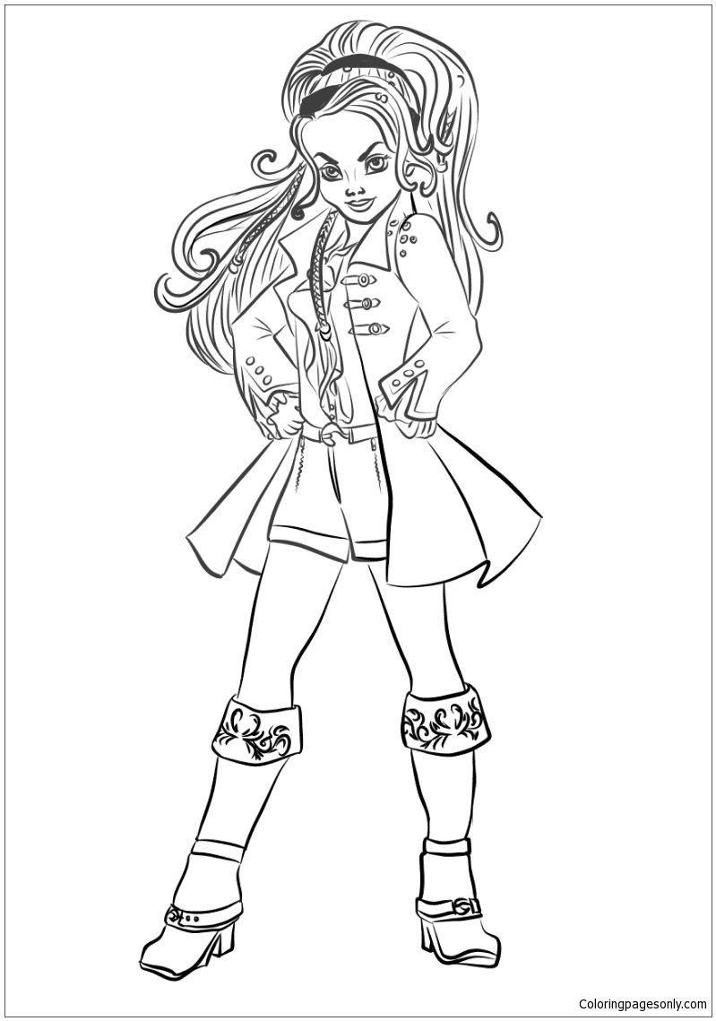 799x1139 Picturesque Descendants Uma Coloring Pages