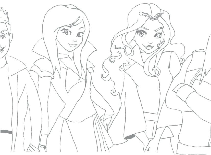 827x609 Descendants Coloring Pages Uma