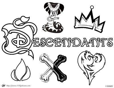 400x309 Free Disney Descendants Coloring Pages Descendants, Logos
