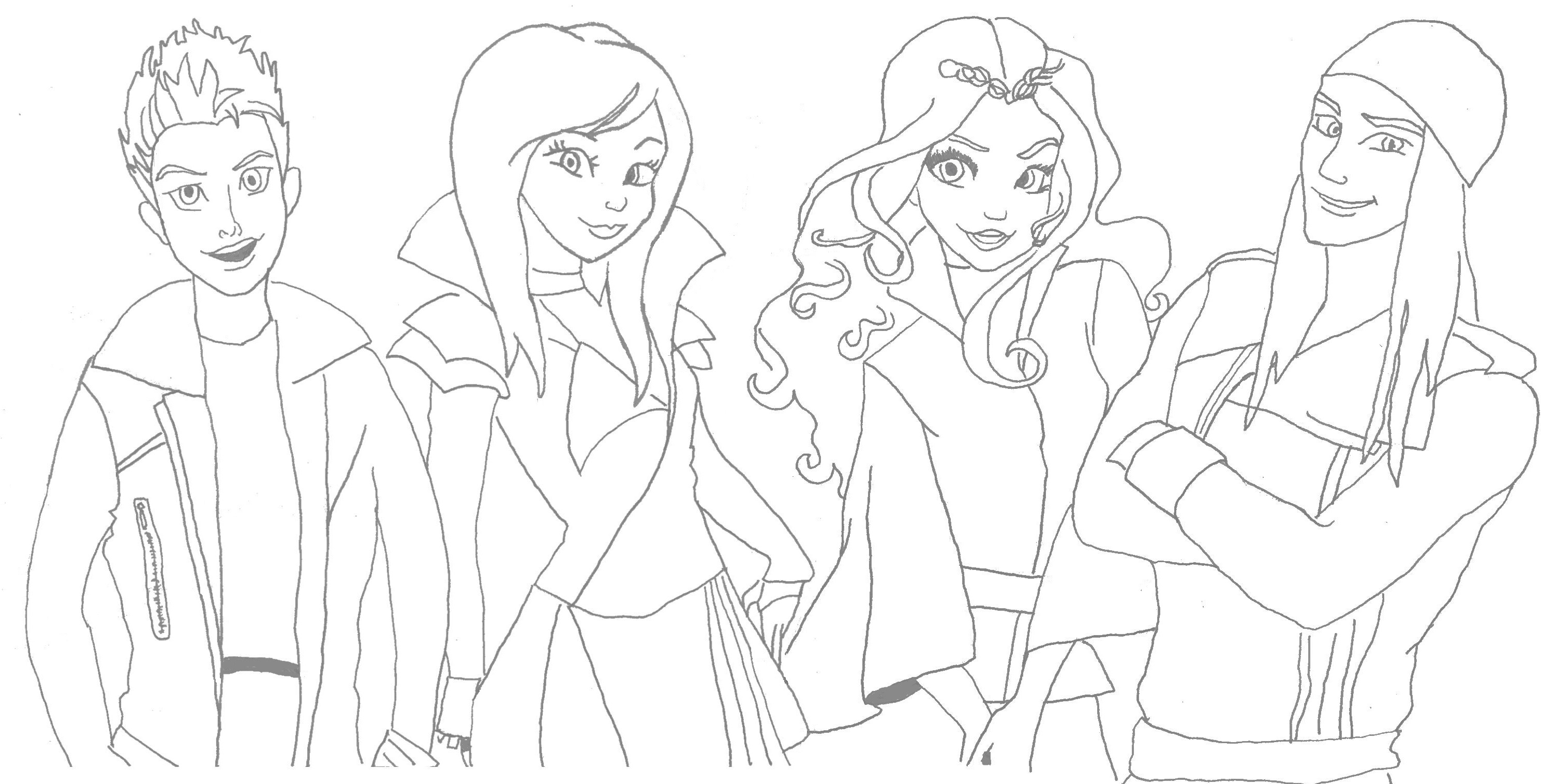 2979x1516 Descendant Coloring Pages Gallery Coloring For Kids