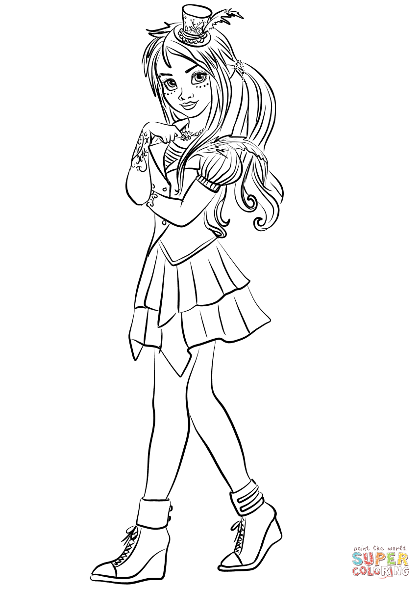 Descendants Disney Coloring Pages At Getdrawings Com Free For