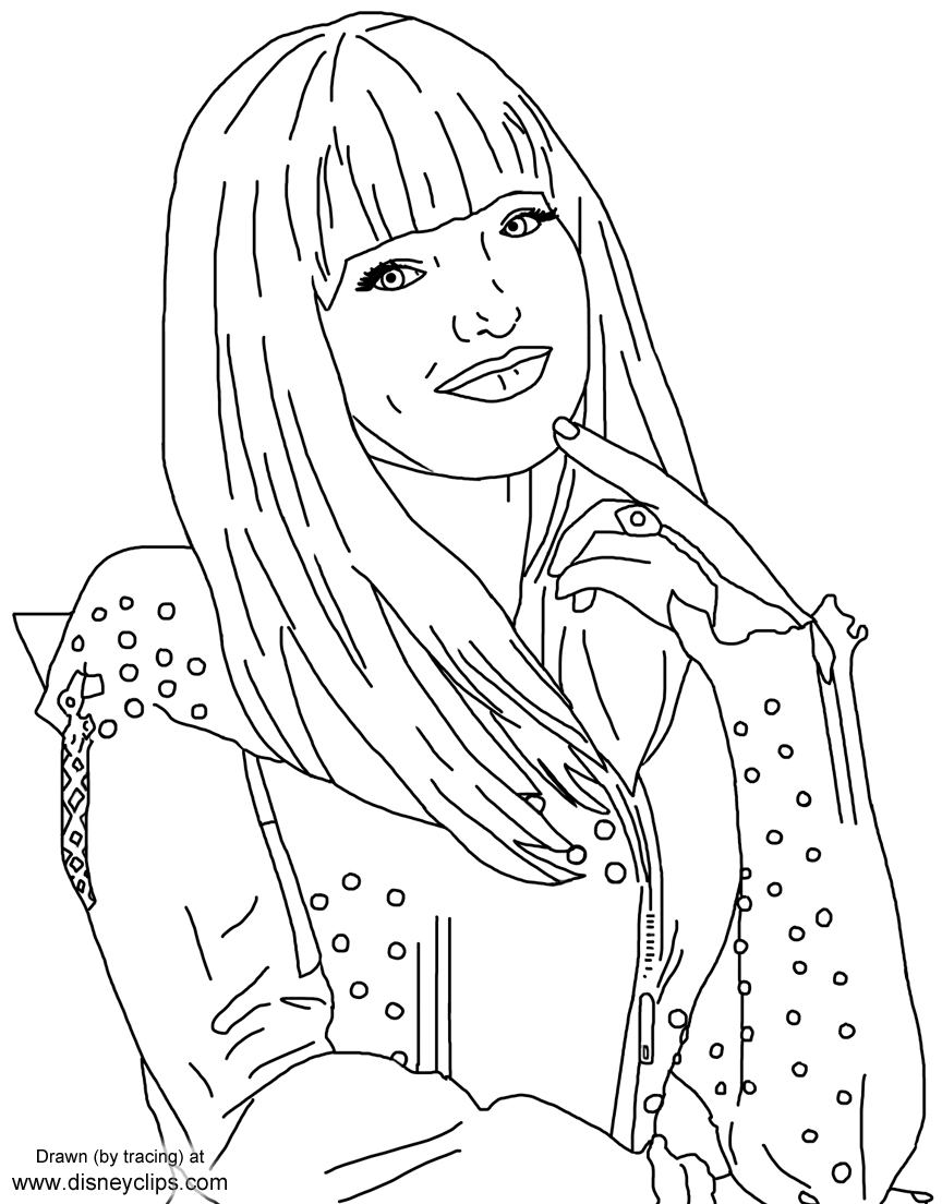 descendants printable coloring pages at getdrawings free