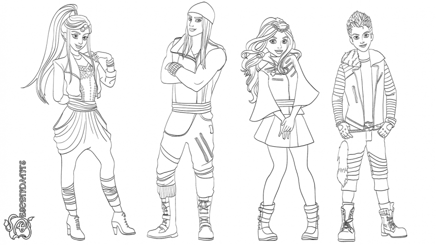 869x489 Coloring Pages Descendants Mal Online Colouring Evie Jayicked