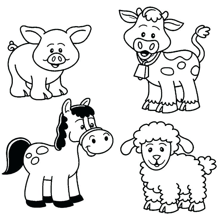 736x735 Animals Coloring Pages Printable Cute Little Kitten Desert Animals