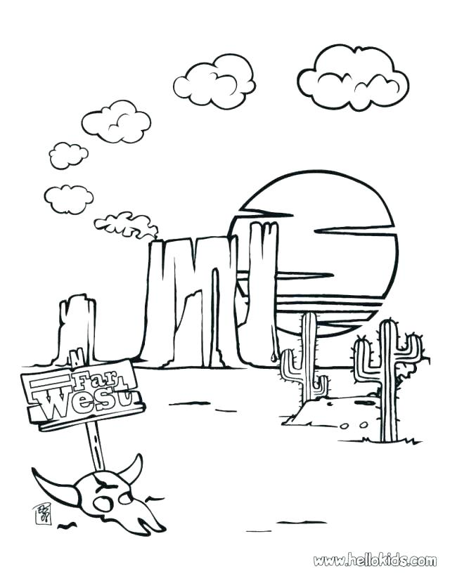 Desert Coloring Pages At Getdrawings Com Free For Personal Use