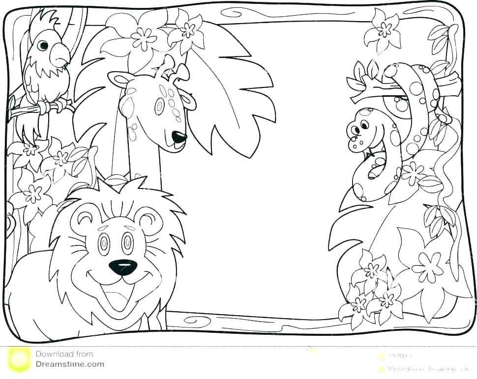 Desert Coloring Pages For Kids