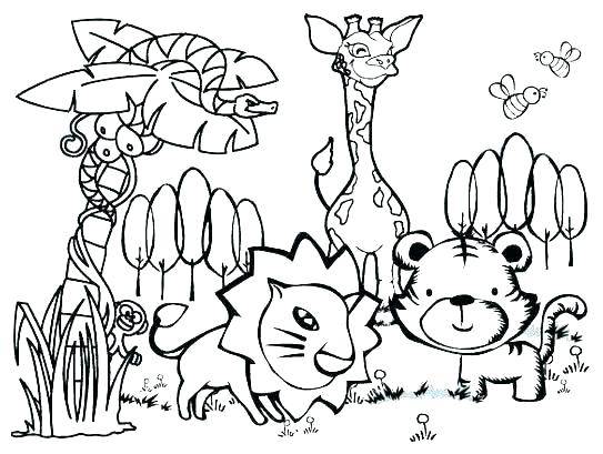 543x409 Animals Coloring Pages Printable Animals Coloring Pages Ntable