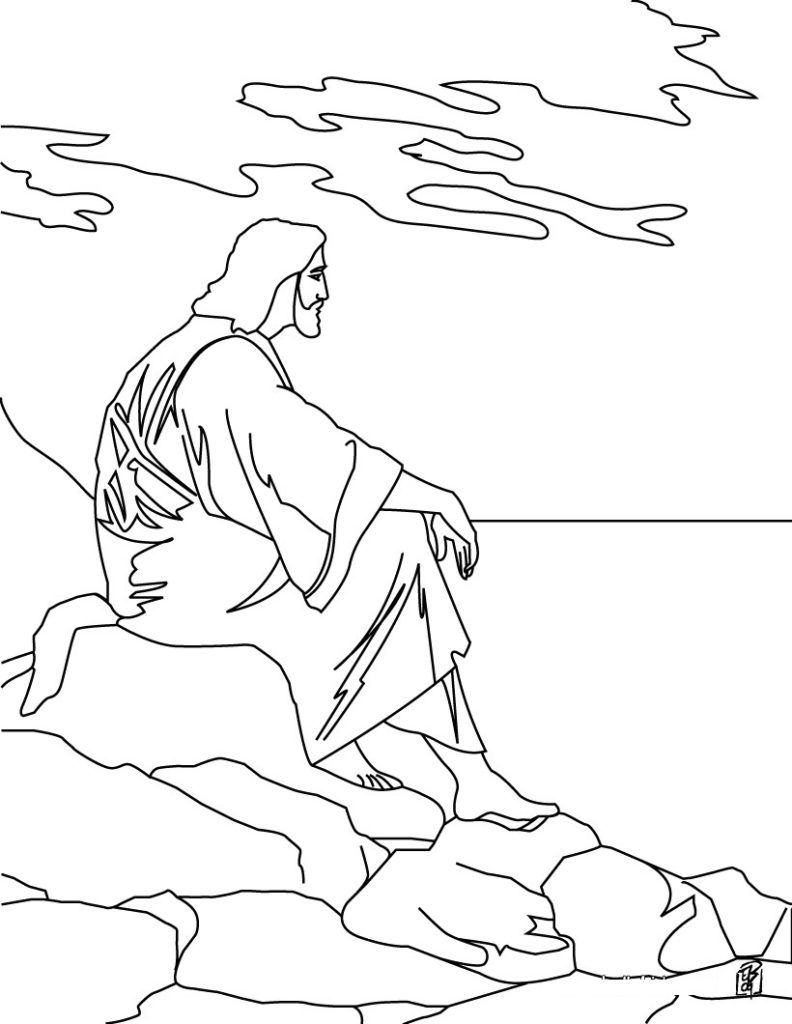 792x1024 Free Printable Jesus Coloring Pages For Kids Coloring Page