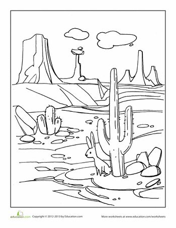 Desert Habitat Coloring Pages
