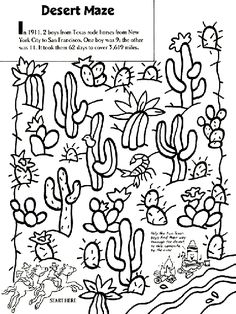 236x314 Color The Saguaro Cactus Worksheets, Cacti And Deserts