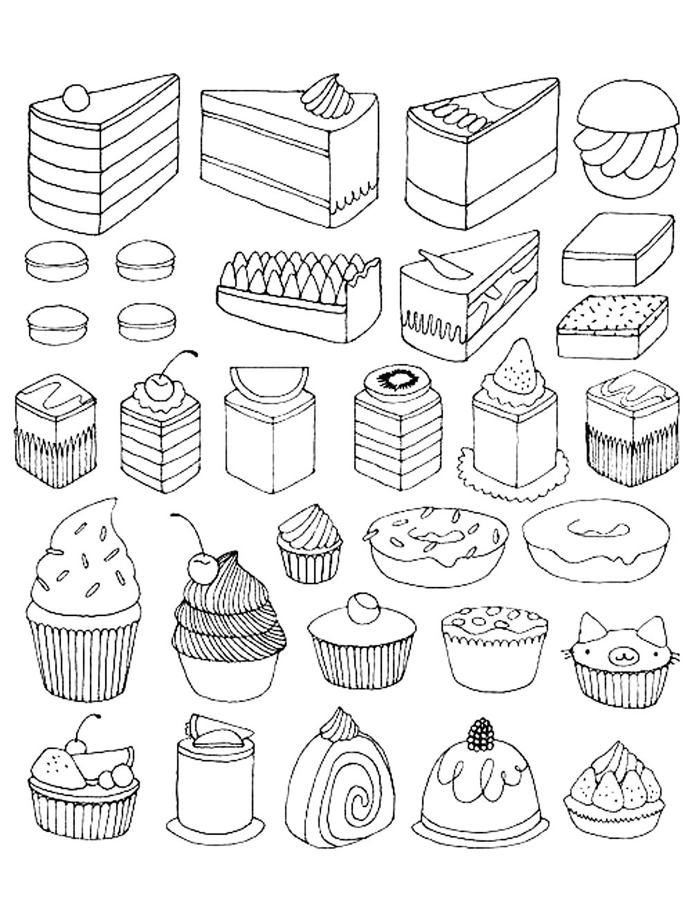 1000x1332 Desert Scene Coloring Page Perfect Dessert Coloring Book