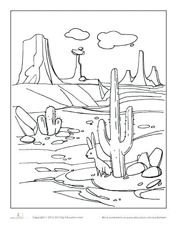350x453 Desert Tortoise Coloring Pages How To Draw A Desert Landscape