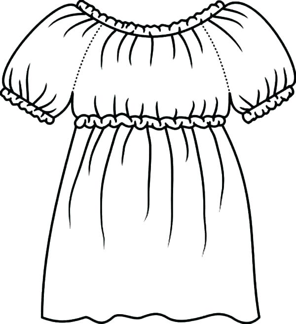 600x657 Dress Coloring Page Coloring Pages Dresses Coloring Page Dress How