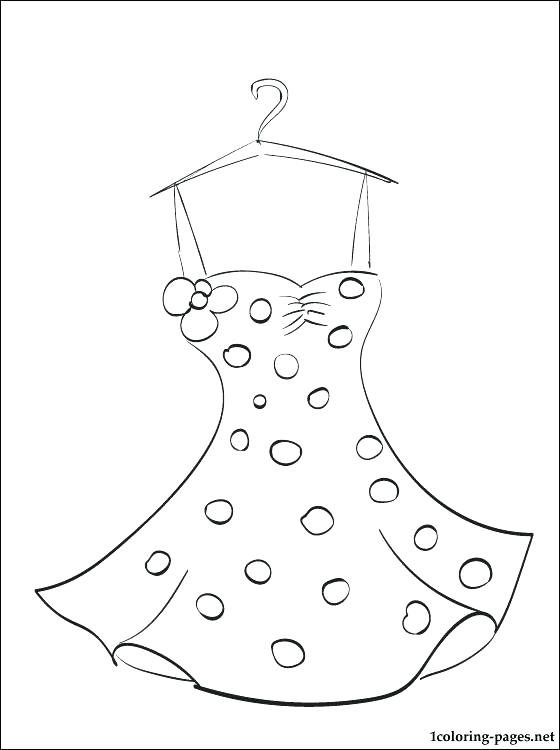 560x750 Dress Coloring Page Doll Dress Designing Doll Dress Coloring Pages