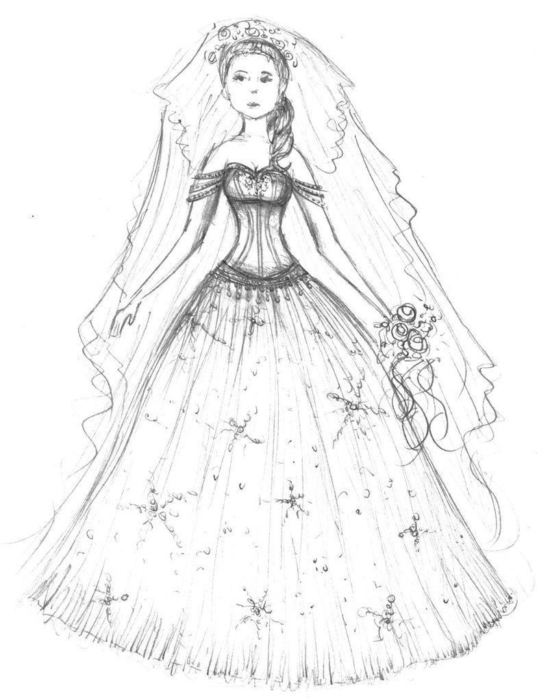 784x1019 Wedding Dress Coloring Pages, Free Coloring Pages Of Girls