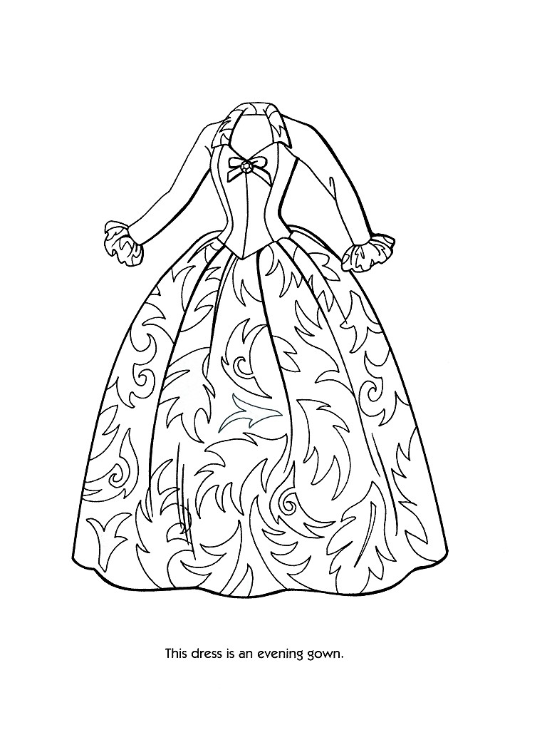 768x1024 Dress Coloring Pages To Print
