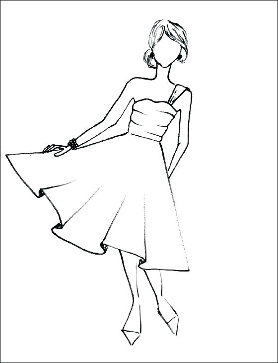 560x730 Dresses Coloring Pages Doll Dress Designing Doll Dress Coloring